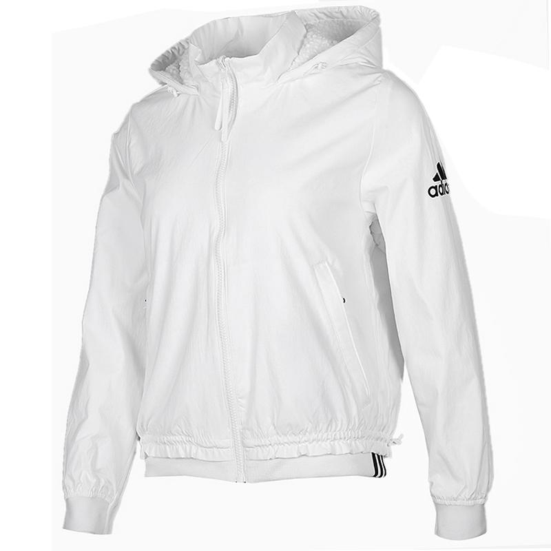 阿迪达斯 adidas WV HOOD SHORT 女子 舒适防风网球训练出游休闲外套梭织夹克外套 FT1760