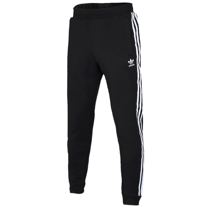 阿迪达斯三叶草 Adidas 男子 休闲舒适透气针织三条纹舒适长裤 EC4710