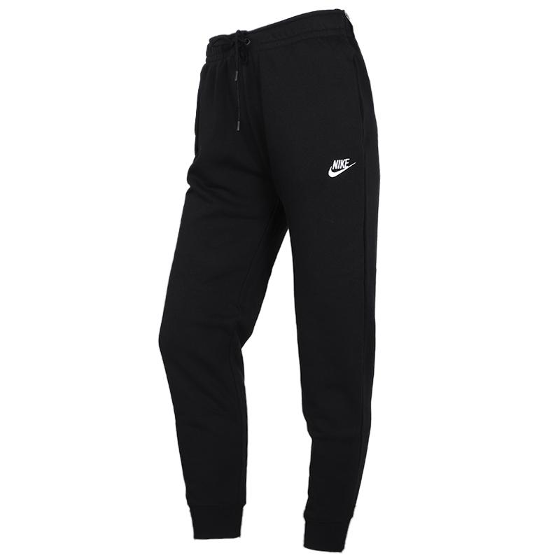 耐克 NIKE 女子 健身时尚休闲舒适透气收口针织长裤 BV4096-010
