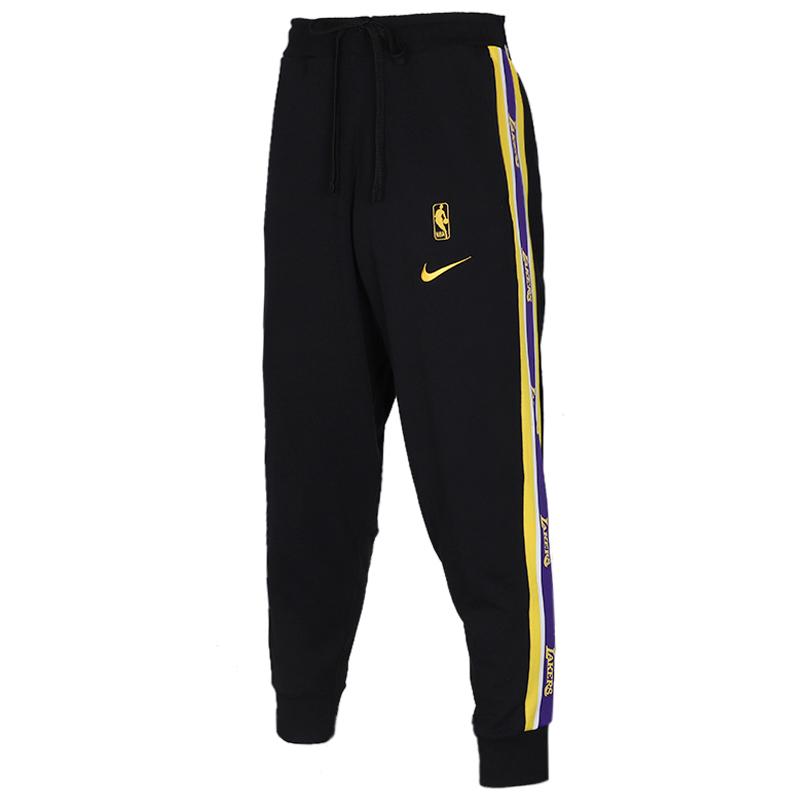 耐克 NIKE AS LAL PANT COURTSIDE 男子 串标篮球运动裤舒适透气休闲针织长裤 CJ7125-010