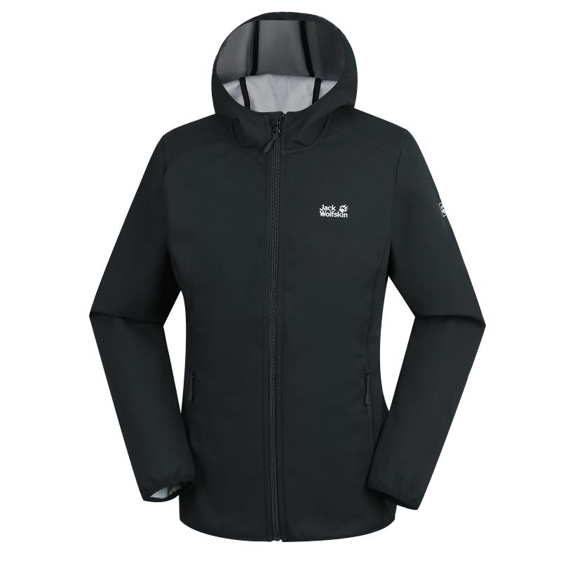狼爪 Jack wolfskin 女子 户外运动服防风休闲耐磨软壳夹克外套 1304011-6001