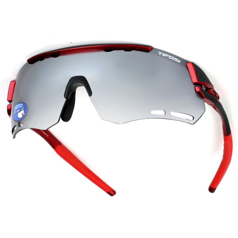 tifosi  三片可换镜片 中性  运动眼镜跑步马拉松 三片烟灰/ac红/透明 T1490109701