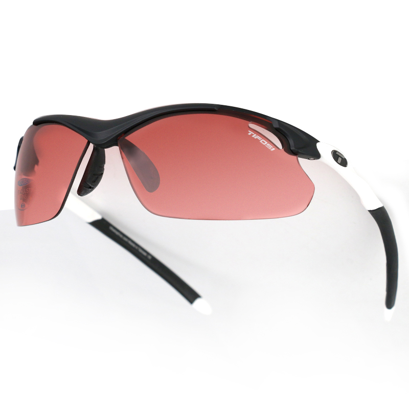 TIFOSI 变色系列 中性 马拉松运动眼镜太阳镜 高速红变色-黑间白 T1120306430