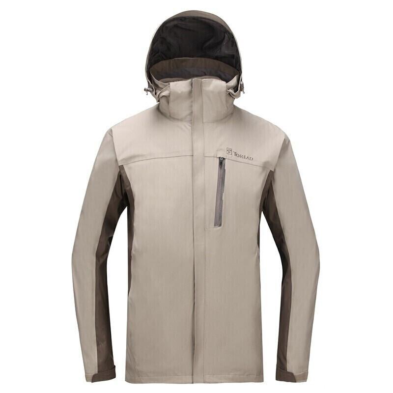 探路者 TOREAD 男子 防风加厚保暖三合一冲锋衣外套  KAWF91603-G47F