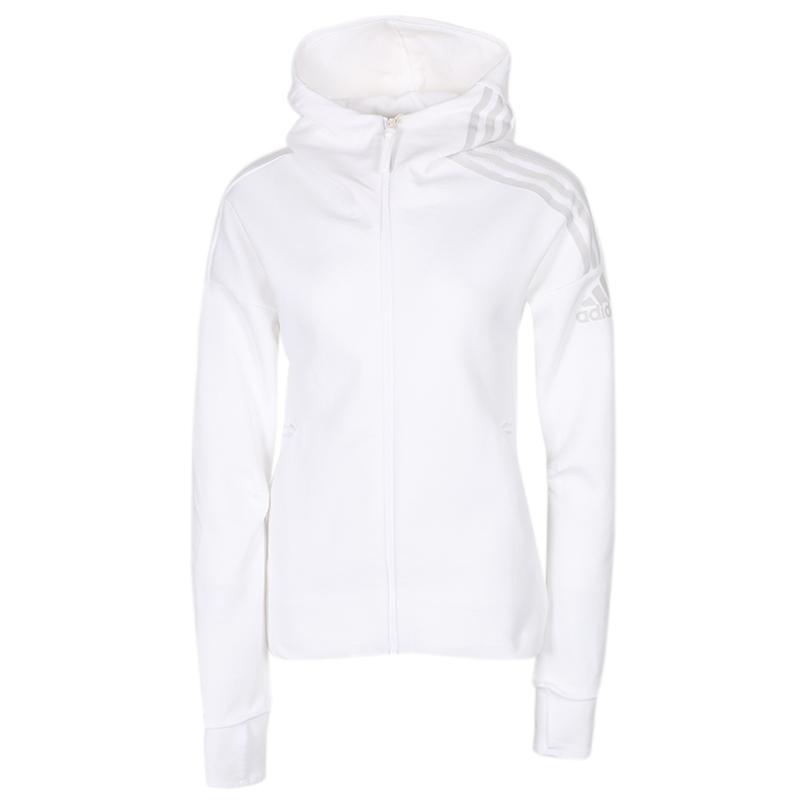 阿迪达斯 adidas 女装 运动跑步训练健身保暖舒适防风休闲外套针织夹克 FL1960
