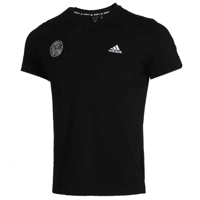 阿迪达斯 adidas 男装 运动服跑步训练透气舒适休闲圆领短袖T恤 FU6219