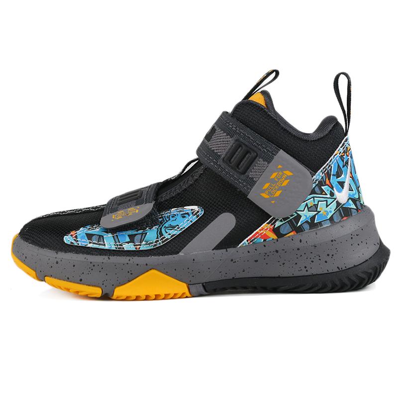耐克 NIKE LEBRON SOLDIER XIII (PS) 儿童 户外跑步训练实战休闲缓震耐磨篮球鞋 AR7586-070