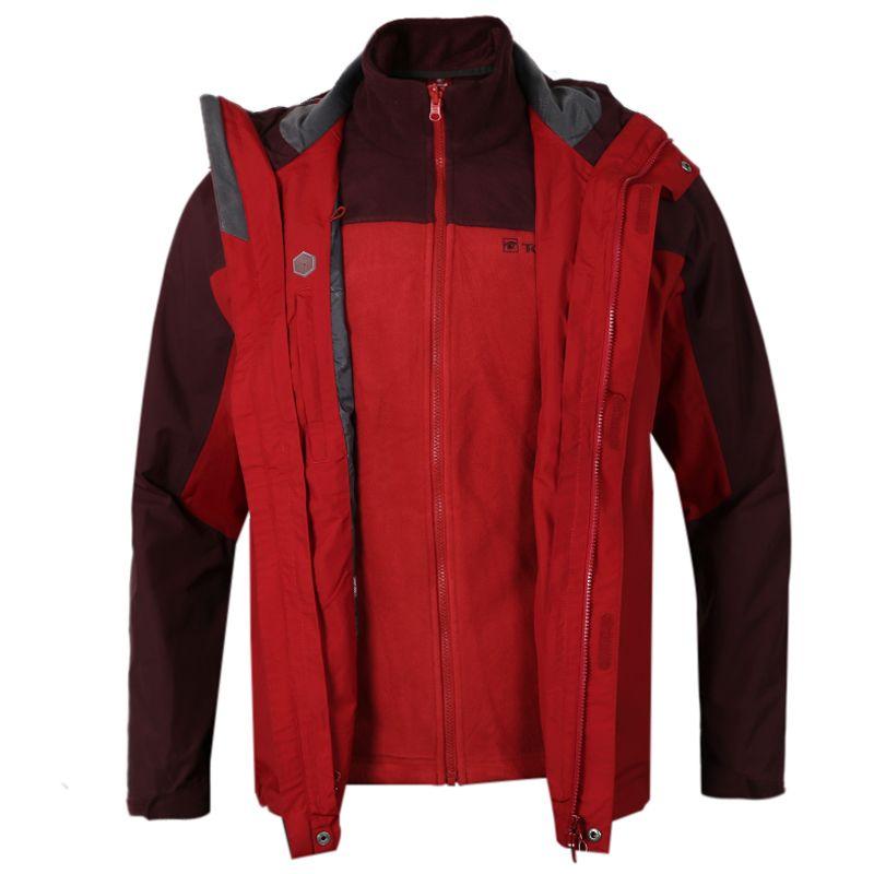 探路者 TOREAD 男子 运动休闲保暖时尚连帽夹克外套冲锋衣 TAWB91713-3