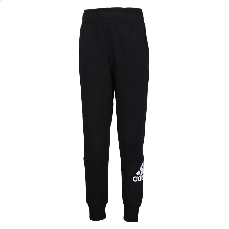 阿迪达斯 adidas YB MH BOS P 儿童 运动裤跑步训练健身舒适透气休闲针织长裤 DV0786