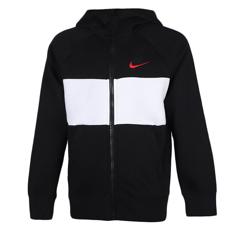 耐克 NIKE 儿童 运动服针织连帽保暖防风夹克开衫外套上衣 CJ7855-010