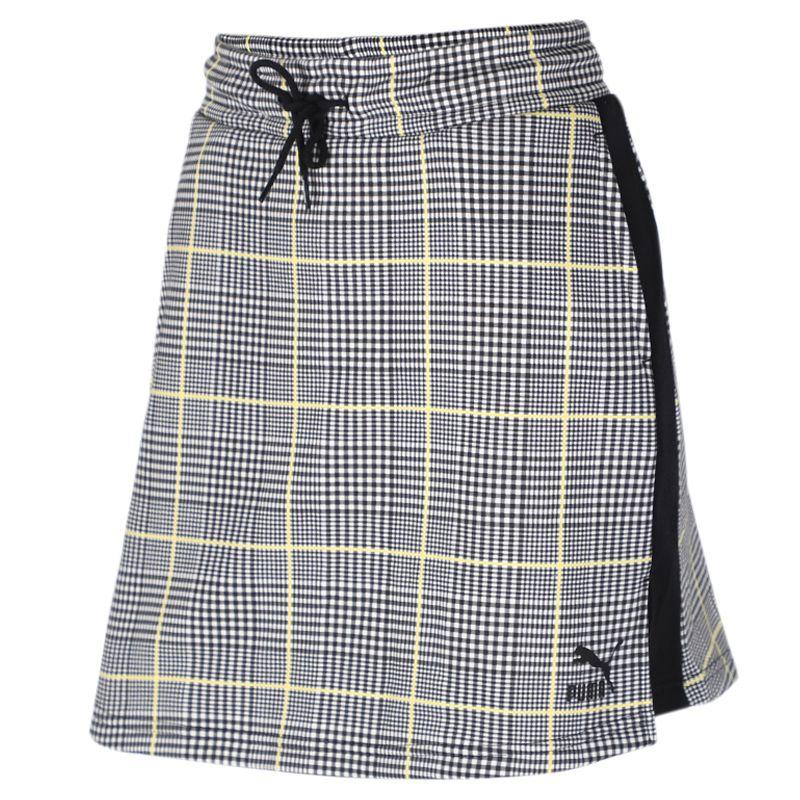 彪马 PUMA Recheck Pack Mini Skirt 女装 运动裙休闲时尚包臀显瘦格子半身裙短裙 597893-01
