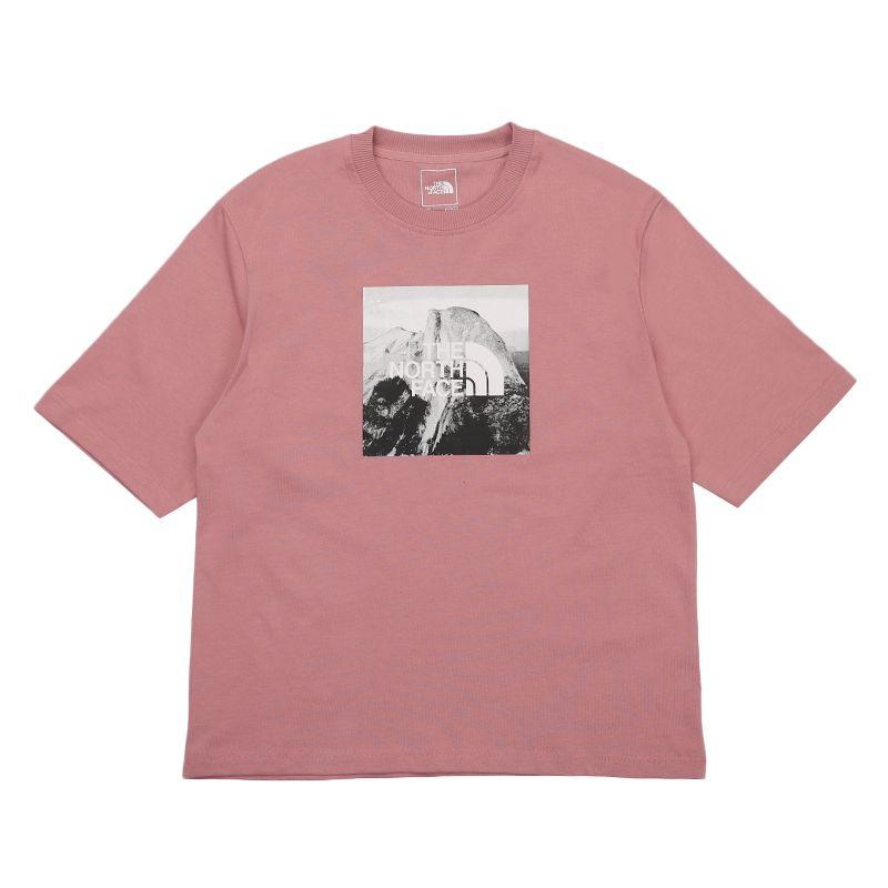 北面 TheNorthFace 男装 运动服跑步训练健身透气舒适休闲圆领印花短袖T恤 499VZCF