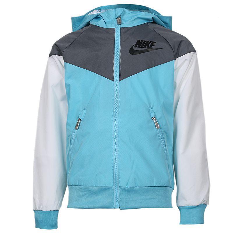 耐克 Nike 儿童 时尚潮流运动服休闲舒适耐磨透气连帽夹克外套 92427JK663-C3L
