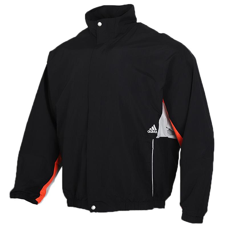 阿迪达斯 adidas 男装 运动服开衫立领梭织休闲时尚夹克 FM5455
