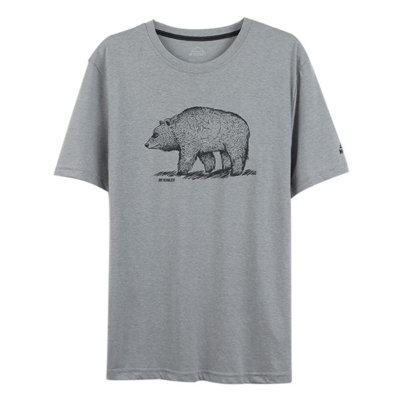 McKINLEY 男装 运动服跑步训练健身透气舒适休闲圆领短袖T恤 308677-903911