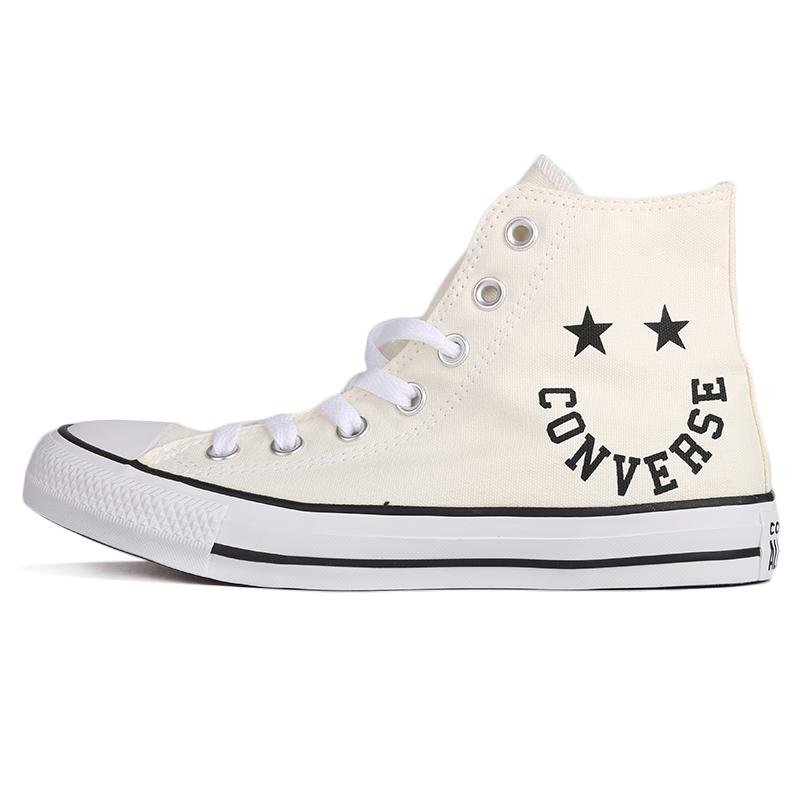 匡威 CONVERSE 男女 All Star微笑图案高帮帆布鞋休闲鞋板鞋 167067
