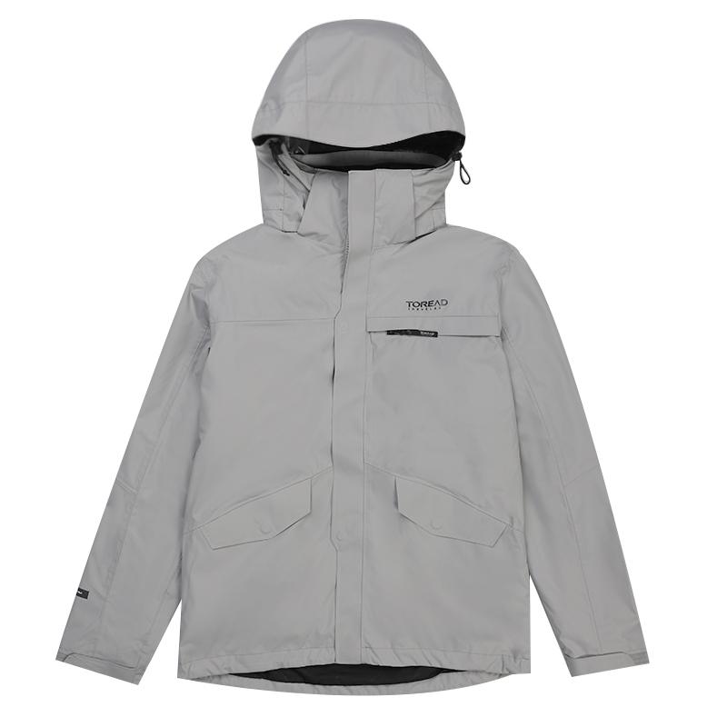 探路者 TOREAD 男子 休闲加厚保暖防风透湿连帽夹克外套 TAWH91901-G05X