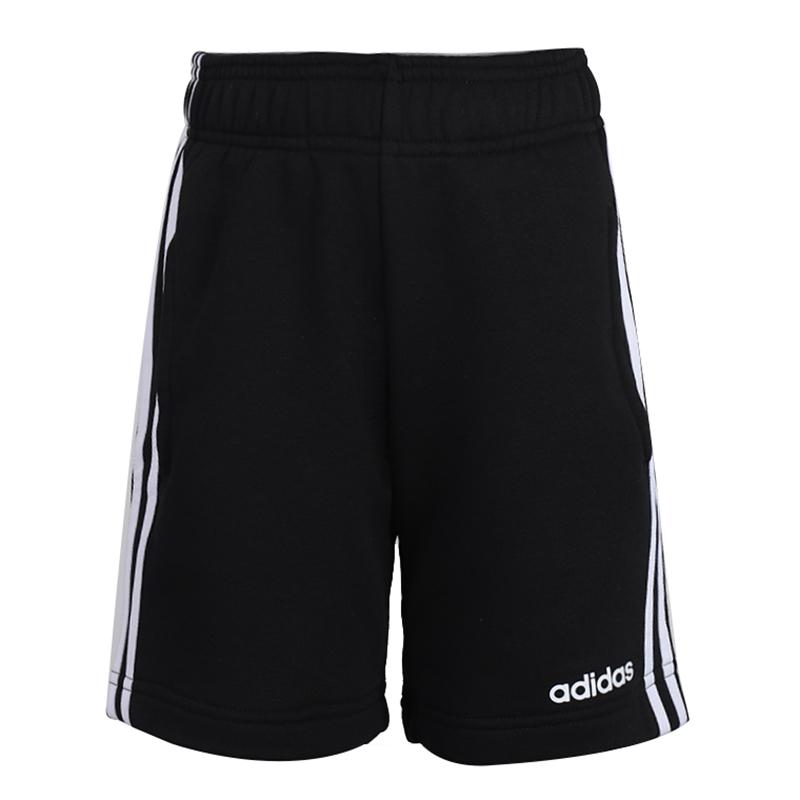 阿迪达斯 adidas 儿童 运动裤跑步训练三条纹宽松舒适透气快干休闲短裤 DV1796