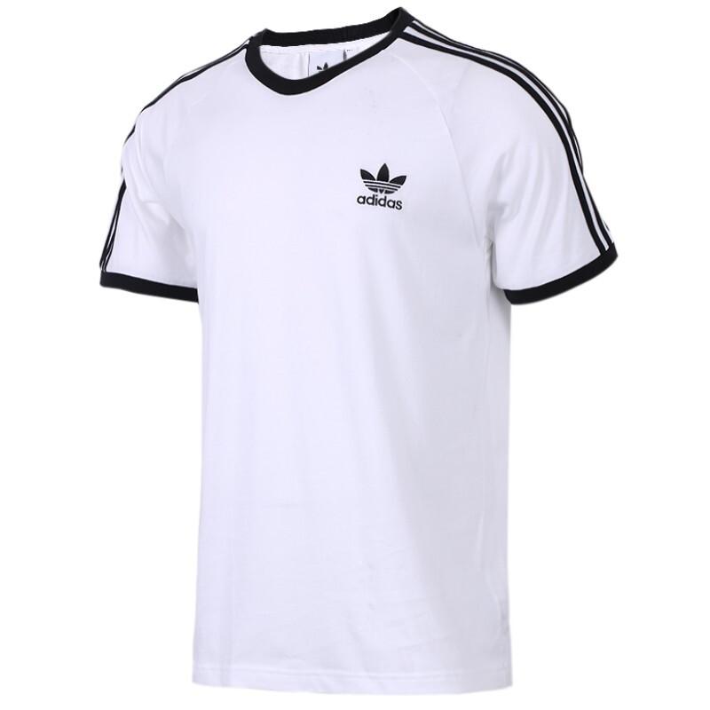 阿迪达斯三叶草 Adidas  男女装 运动服跑步舒适透气休闲圆领短袖T恤 CW1203 尺码偏大一码至两码
