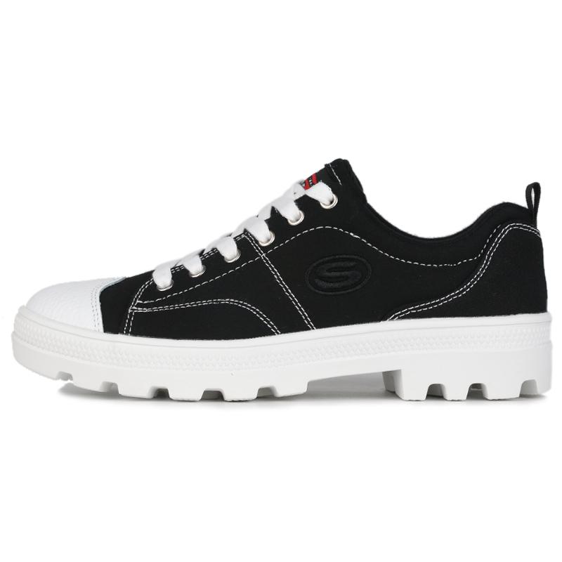 斯凯奇 SKECHERS 女鞋 运动鞋复古时尚耐磨舒适透气休闲鞋板鞋  74370-BLK