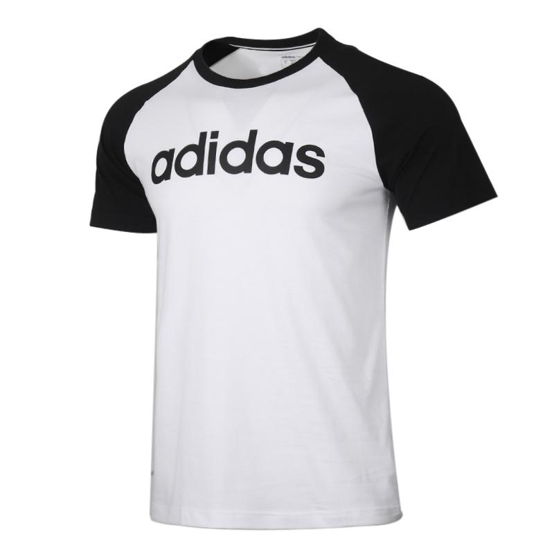 阿迪生活Adidas NEO 男装 运动服跑步训练健身透气舒适休闲圆领短袖T恤 FP7443