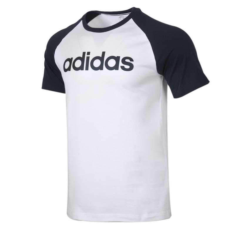 阿迪生活 Adidas NEO 男装 运动服跑步训练健身透气舒适休闲圆领短袖T恤 FP7439