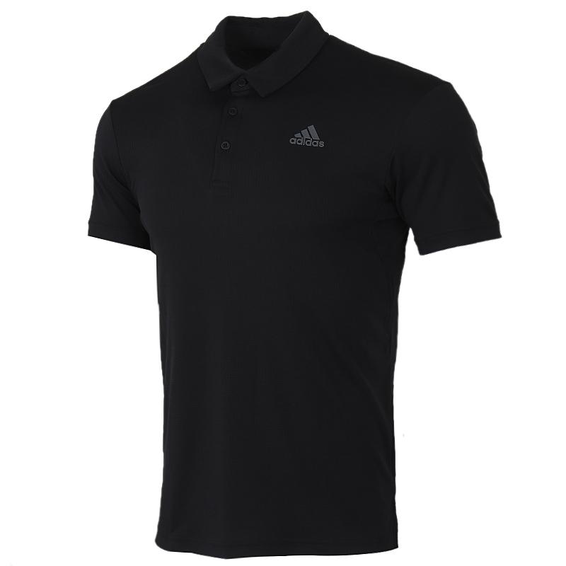 阿迪达斯 adidas 男装 运动服跑步训练健身透气舒适休闲翻领短袖T恤 FK1414
