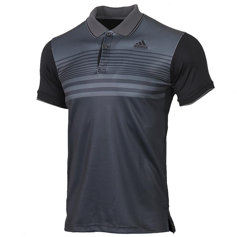 阿迪达斯 adidas 男装 运动服跑步训练健身时尚透气舒适休闲T恤POLO短袖 FN1451