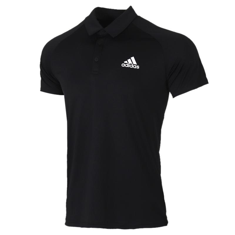 阿迪达斯adidas 男装 运动服跑步训练透气舒适休闲T恤衫POLO短袖 FK6962