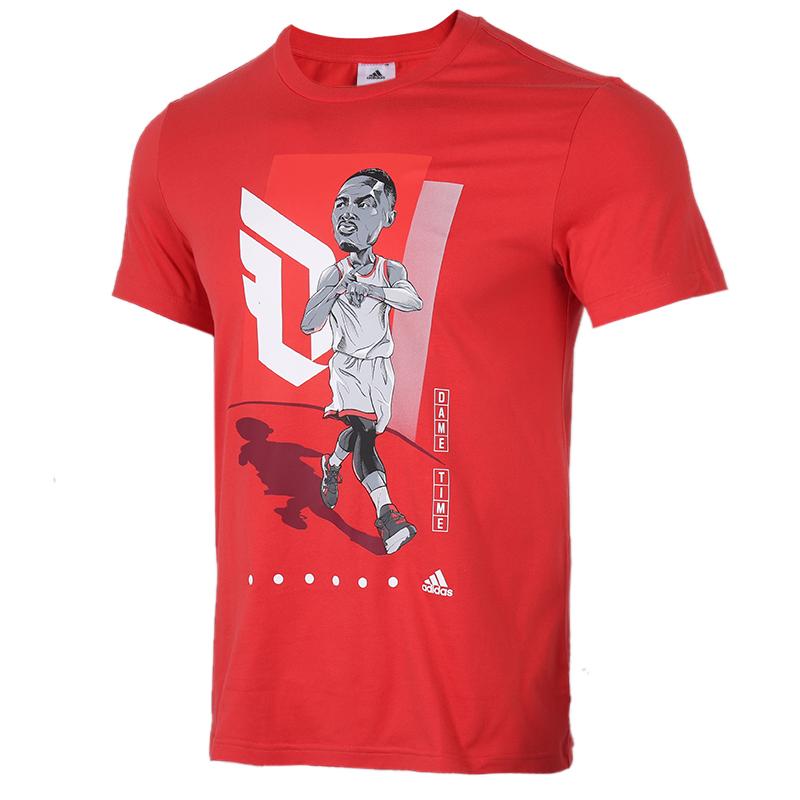 阿迪达斯 adidas DAME GU TEE 男装 利拉德运动服跑步训练健身快干透气舒适短袖T恤 FT8837