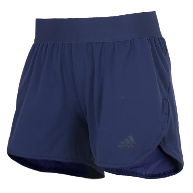 阿迪达斯 adidas 女装 运动裤跑步训练健身舒适透气休闲五分裤短裤 FK9624