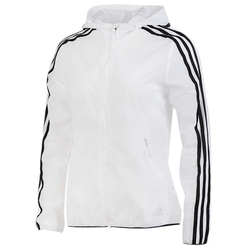 阿迪达斯 adidas 女装 运动服跑步训练健身透气舒适防风快干休闲外套梭织夹克 FT2881