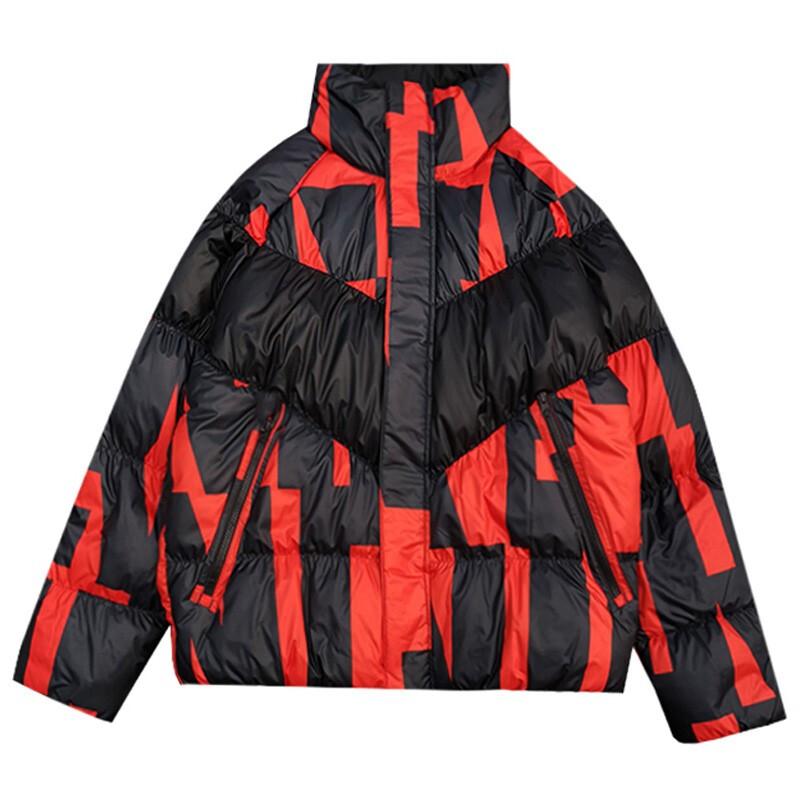 Nike耐克男装羽绒服外套 冬季新款按扣短款拼色运动休闲轻盈立领时尚保暖羽绒夹克CK1850-634
