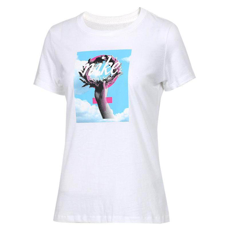 耐克NIKE 女装 时尚透气圆领短袖T桖  AR5359-100
