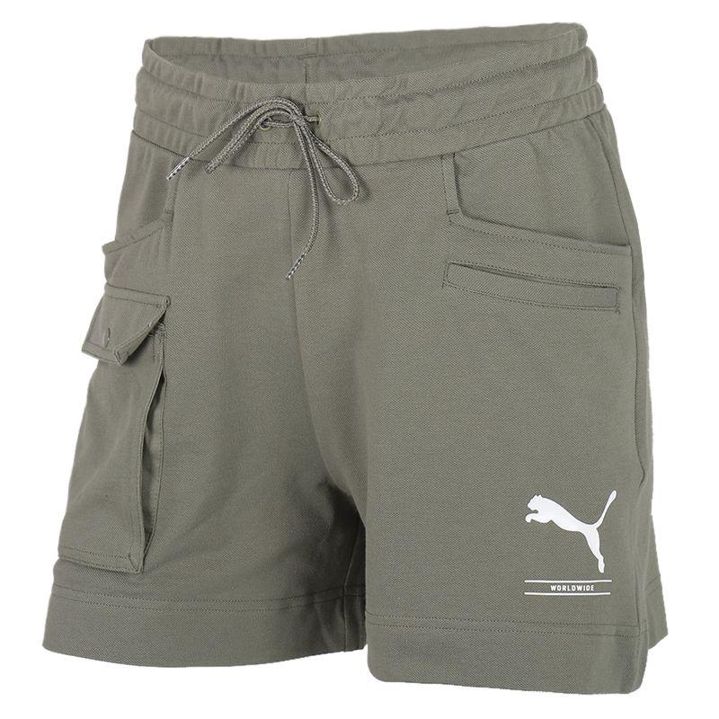 彪马 PUMA 女装 运动裤跑步训练健身舒适快干透气休闲五分裤针织短裤 583859-60
