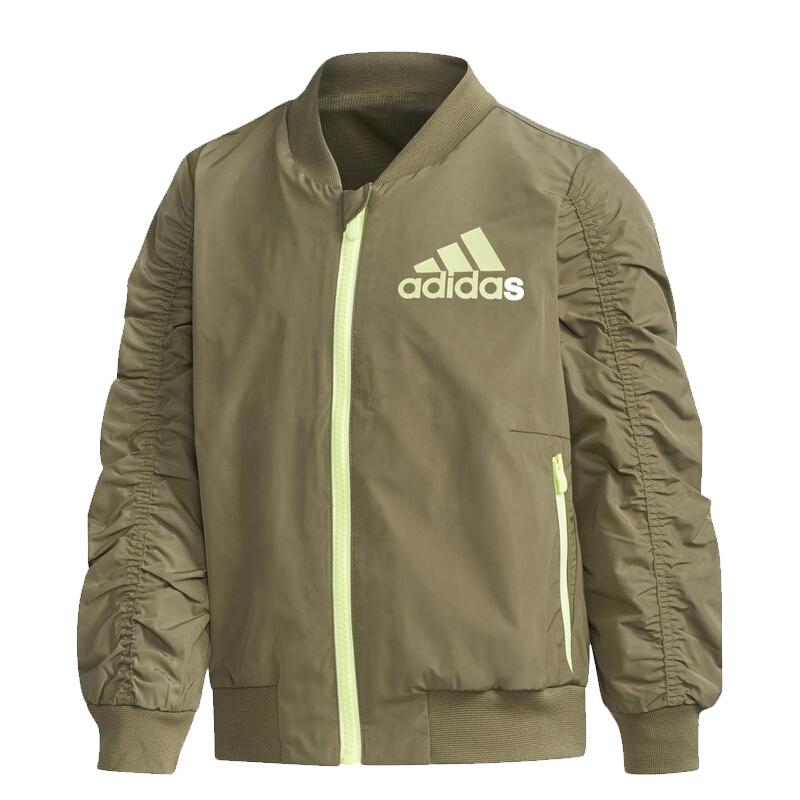 阿迪达斯adidas 童装 2020冬季新款夹克外套 针织夹克 DY9235