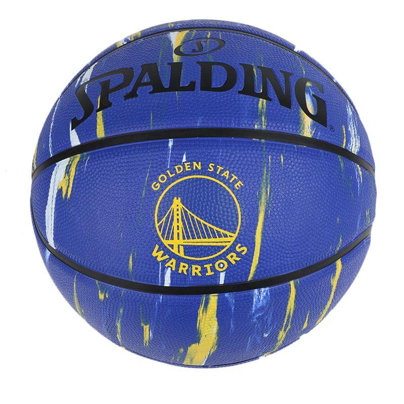 斯伯丁 SPALDING 大理石印花勇士队队徽系列橡胶篮球 84-100Y