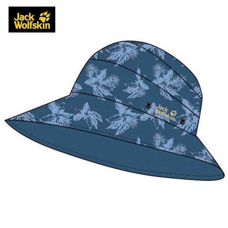 Jack wolfskin/狼爪女士 春季款户外旅行运动休闲舒适双面可带大檐帽子 1905731-7863