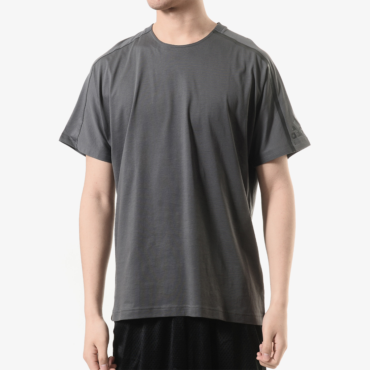 阿迪达斯adidas 男子 运动休闲舒适 短袖T恤 DW9350