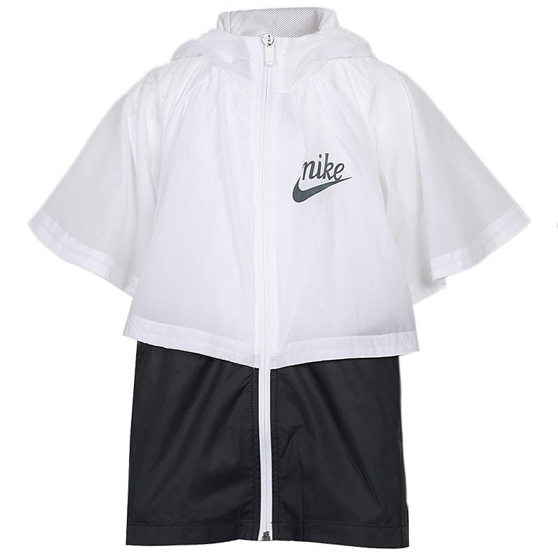 耐克 nike 童装 2020春季新品女大童运动服跑步训练防风透气休闲夹克外套 AQ9708-100