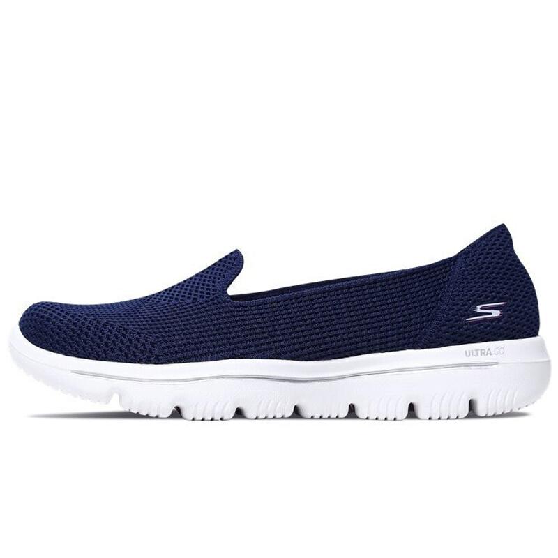 斯凯奇Skechers 女子 夏款舒适一脚穿健步鞋 15755-NVPK