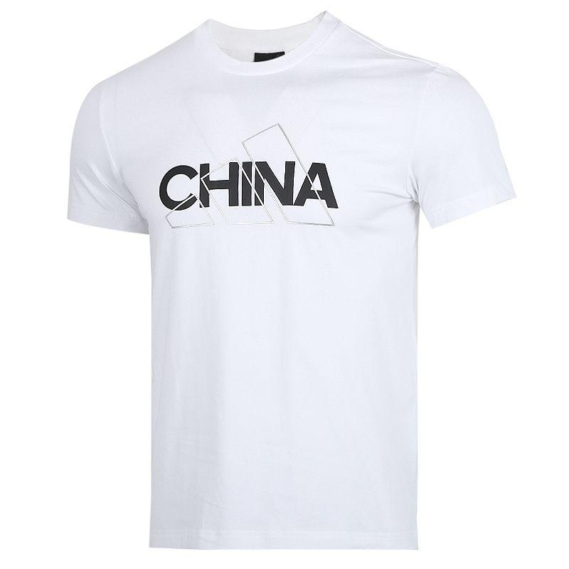 阿迪达斯adidas CHINA TEE 男女 运动服跑步健身训练舒适透气圆领短袖T恤上衣 GL5640