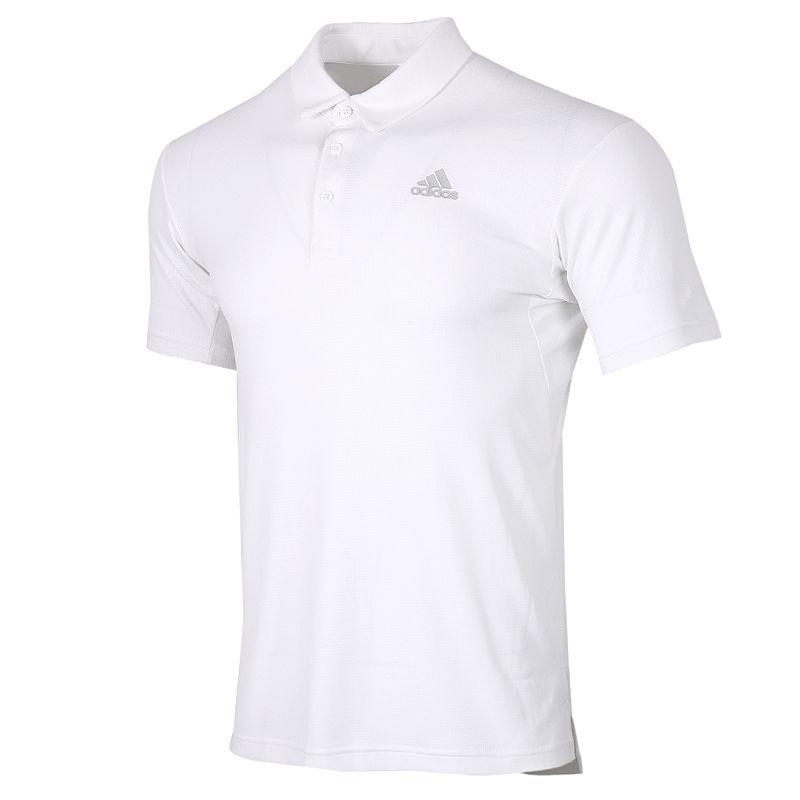阿迪达斯 adidas 男装 运动服跑步训练健身透气舒适休闲翻领短袖T恤 FK1417