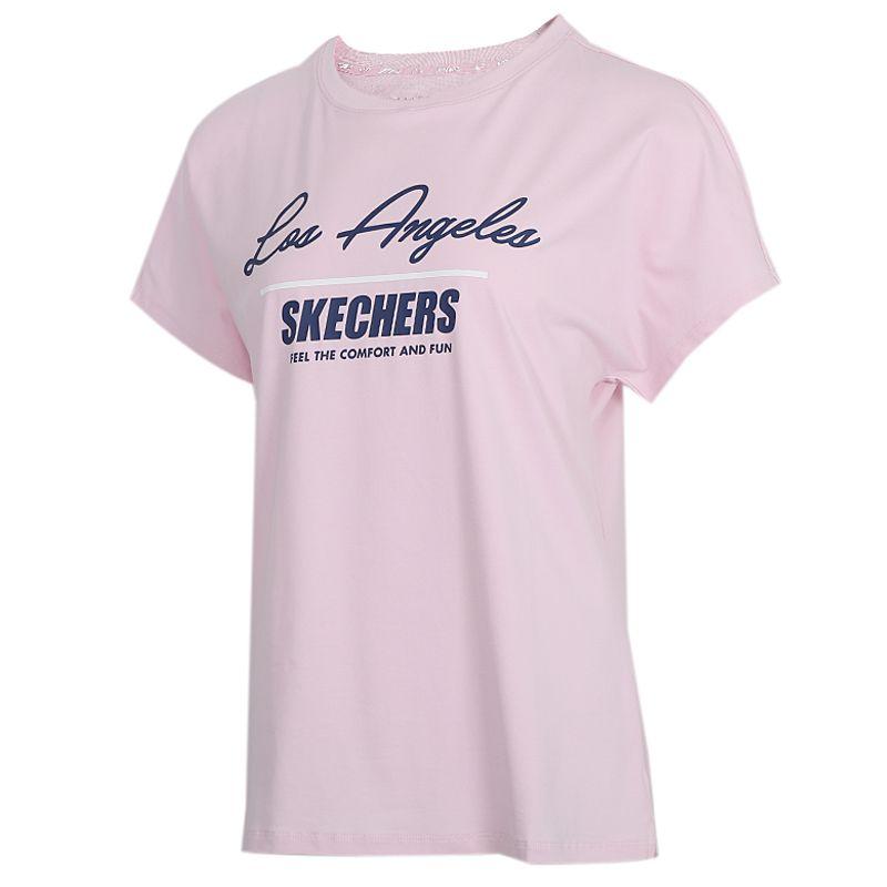 斯凯奇 Lifestyle 女装 运动服跑步训练健身快干透气舒适休闲圆领短袖T恤 L220W002-00EJ