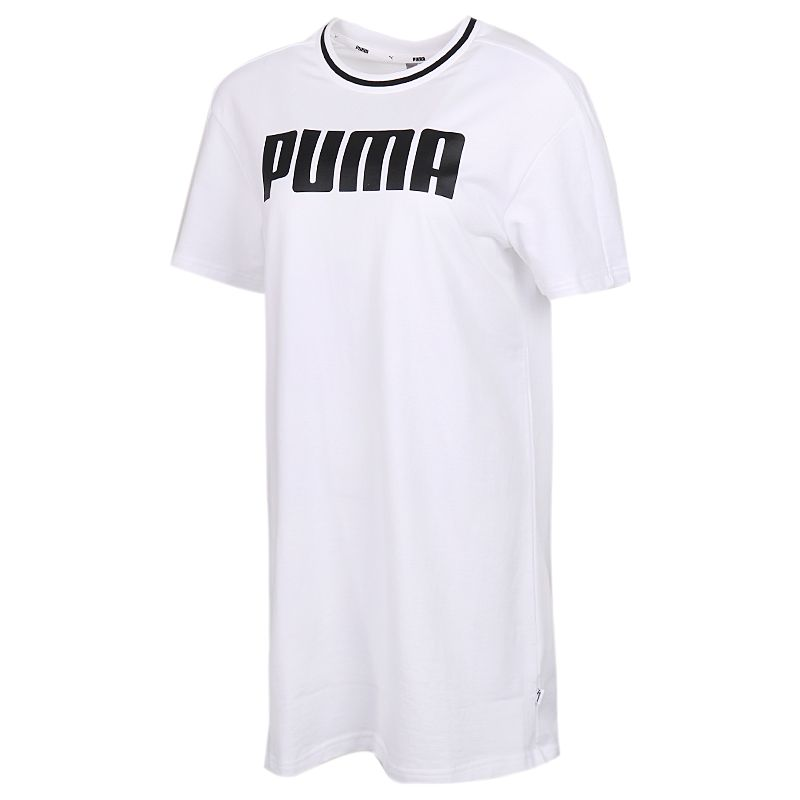 彪马PUMA Dress 女装 运动宽松休闲透气时尚短袖长款T恤连衣裙 599909-02