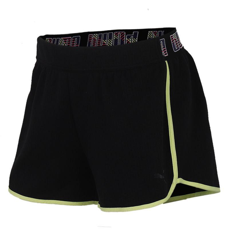 彪马PUMA 女装 运动跑步训练健身舒适快干透气休闲五分针织短裤 518936-01