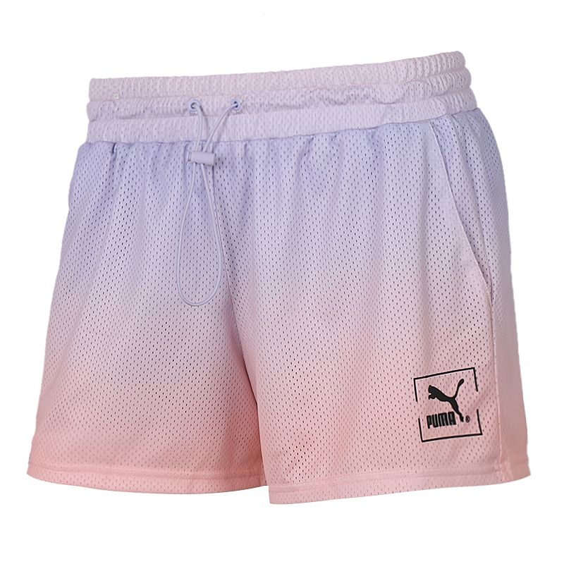 彪马PUMA 女装 运动跑步训练健身舒适快干透气休闲五分梭织短裤 598620-46