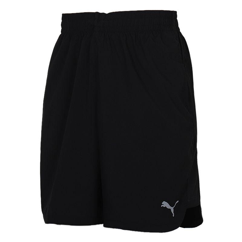 彪马PUMA  男装 跑步训练健身透气快干五分裤子网布内衬休闲梭织短裤 518387-01
