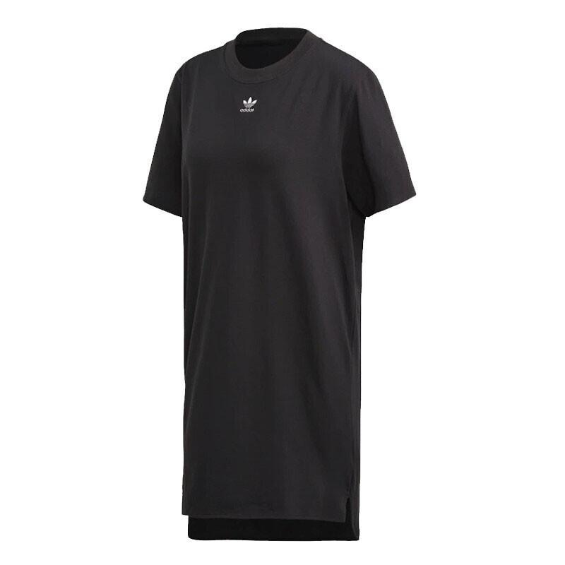 阿迪达斯三叶草adidas TRF DRESS 女装 运动休闲裙子透气宽松时尚短袖长款T恤连衣裙 FM3276