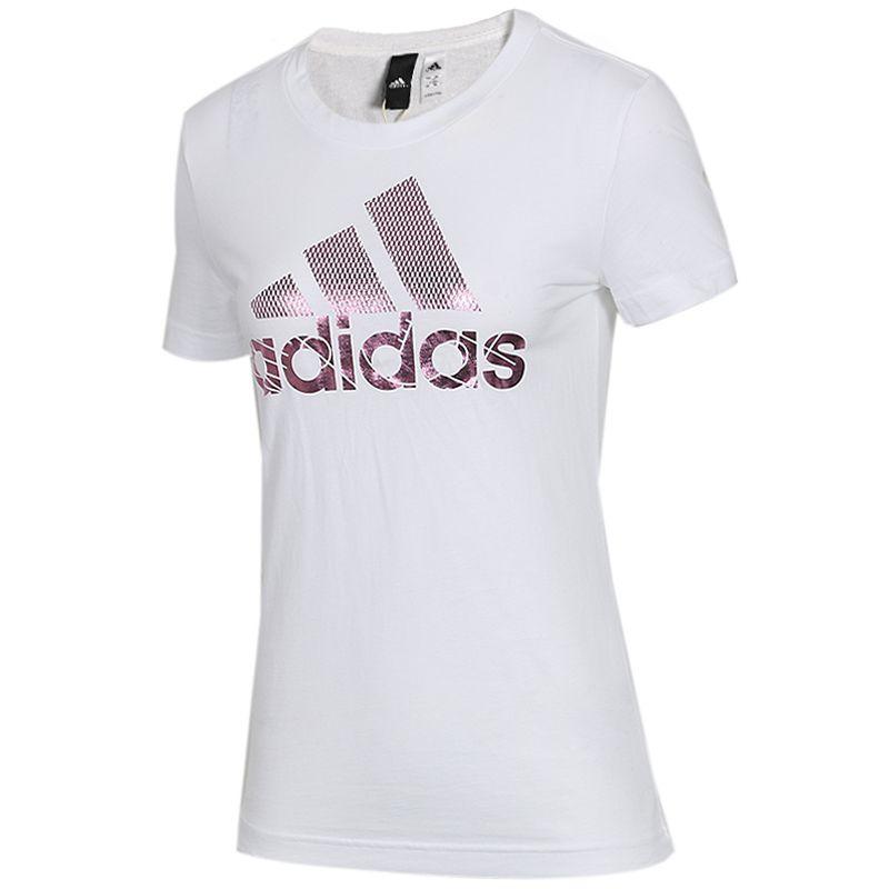 阿迪达斯adidas 女子 运动休闲透气半袖圆领T恤衫 DV3033